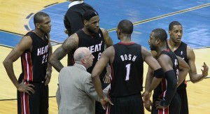Miami Heat LeBron James Chris Bosh Dwayne Wade